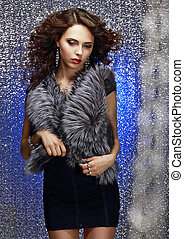 Femininity and Sensuality Gorgeous Sophisticated Lady in Fur...