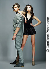 Estilo de vida, bien vestido, pareja, Moda, modelos,...