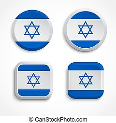 Israel flag buttons