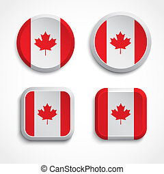 Canada flag buttons