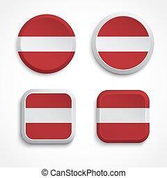 Latvia flag buttons