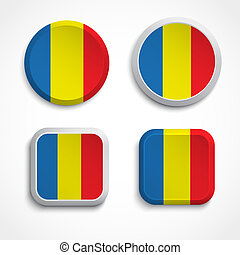 Romania flag buttons
