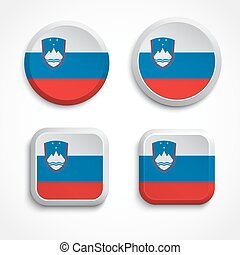 Slovenia flag buttons