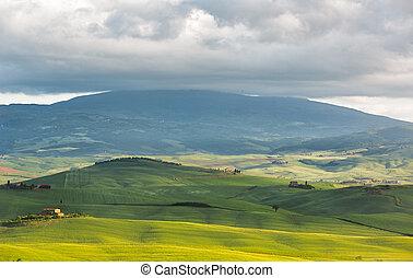 Hilly landscape near Pienza, Tuscany, Italy