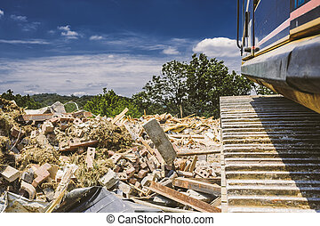 Construction and Demolition Site - An existing structure is...