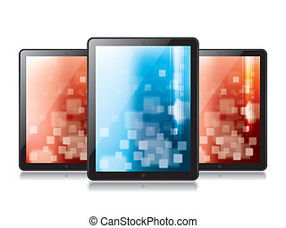 Digital Tablet - Digital tablet in vector illustration