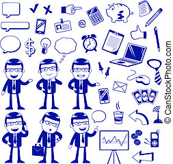 buisness set - set of icons related to business and finance