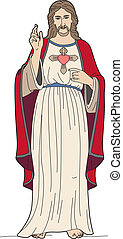 Jesus Christ - Vector illustration of Jesus Christ