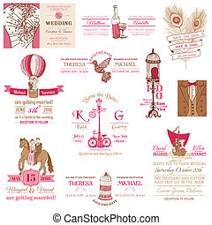 Wedding Vintage Invitation Collection - for design,...