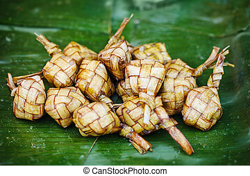 Ketupat - traditional eastern dish from Malaysia