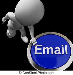 E-メールを送ること, コミュニケーション, ボタン, 電子メール, インターネット