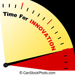 Time For Innovation Represents Creative Development And...
