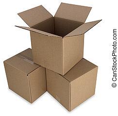 Pilha, caixas, caminho
