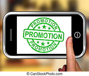 Promotion On Smartphone Shows Special Promotions And...