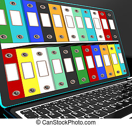 Files Shelves On Laptop Sho