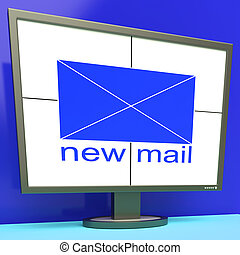 New Mail Envelope On Monitor Shows Mail Alert