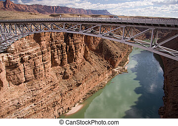 Navajo Bridge - These two bridges, one historic and one new,...