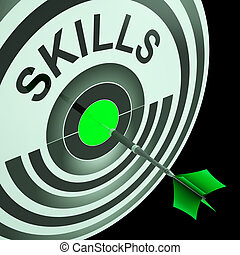 Skills Shows Skilled, Expertise, Professional Abilities -...