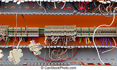 Detail of Stripped Electric Switchboard - Detail of an...