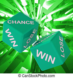 Chance, Win, Lose Dice Background Showing Gamble Losers And...