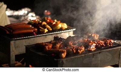 Bar-b-q - Meat on the grill