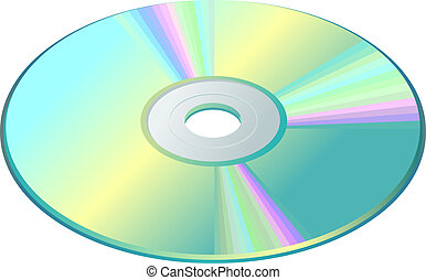 CD-DVD-Blu-Ray Disc - CD, DVD or Blu-Ray disc isolated on...