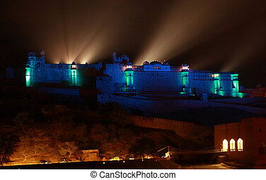Lights at night Amber fort Jaipur - Night shot Amber Fort...