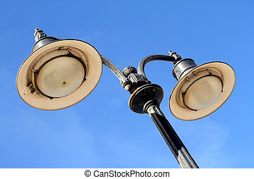 Lamp post - An aged and oxidise lamp post