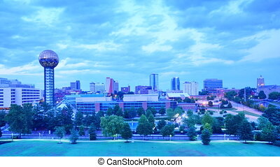 Knoxville time lapse - Time lapse of downtown Knoxville,...