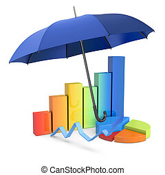 protect your investments - financial charts under an...