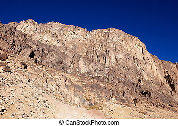 Mount Sinai - Rocks and sky at the very Mount Sinai