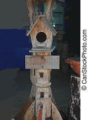 Bird house.  - Bird house.