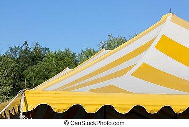 triple peak striped tent top