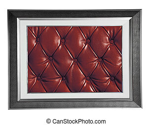 photo frame with red leather