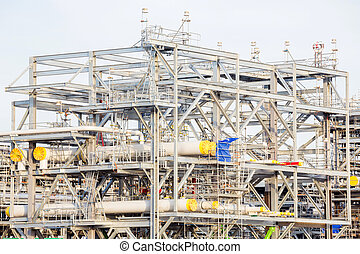 Refinery Factory with LNG - Assembling of liquefied natural...