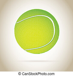 tennis ball design over beige background vector illustration...