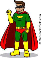 Superhero - A cartoon illustration of a Superhero