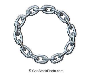 cadena, enlace, marco, frontera, círculo