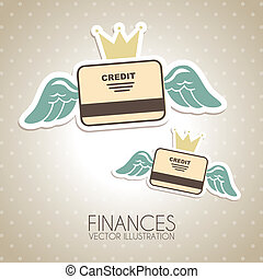finance design over dotted background vector illustration