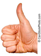Thumbs up. - Thumbs up on a white background