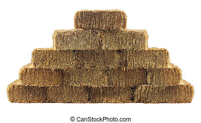 Bale of Hay Wall - Bale of hay group in a pyramid wall...