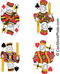 Four kings no cards - Four kings without cards. Original...