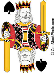 King of Spades no card