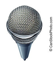Microphone Isolated - Microphone or mic isolated on a white...