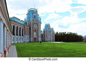 The Grand Palace in Tsaritsyno. Moscow - The Grand Palace at...