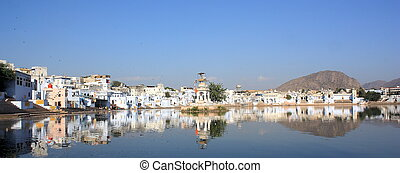 Pushkar - panoramic shot of Pushkar