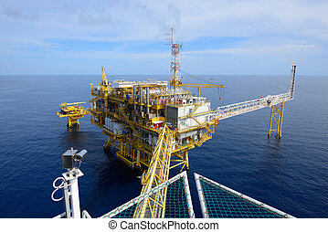 The offshore oil rig