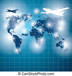 Conceptual Business Background - Travel concept. Vector...