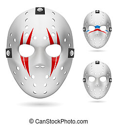Hockey mask Illustration on white background for design