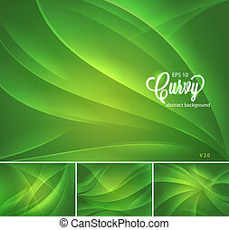 Curvy abstract background series, available in 4 different...